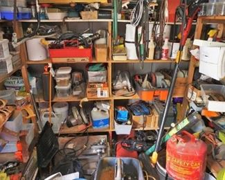 Shed full of tools