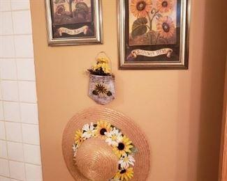 Still more sunflower decor.