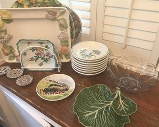 Italian dishes and trays