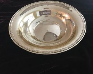 Sterling serving bowl