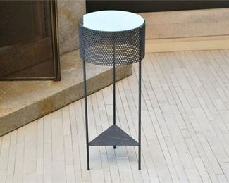 8. Metal and Glass Drinks Stand