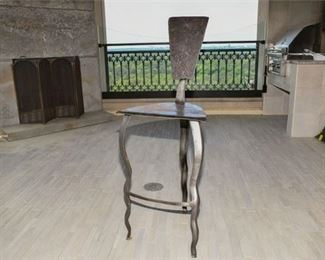 9. Modern Design Steel Bar Stool