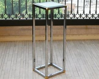 11. Chrome, Brass and Glass Fern Stand