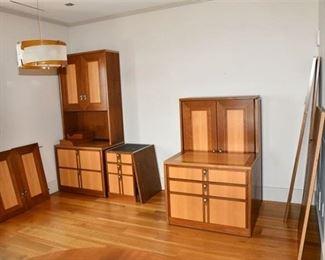 18. Jugendstil Office Cabinetry