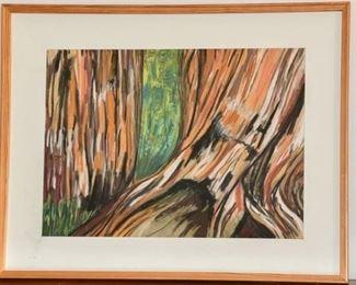 20. Mid Century Framed Pastel on Paper