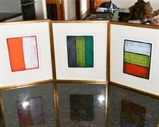 24. Set of Three 3 Original Watercolors by Christopher Birt Canadian