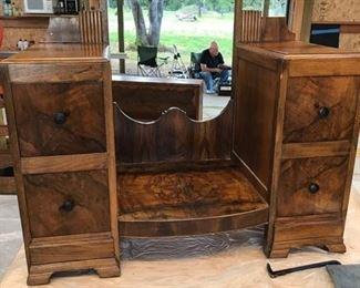 Burl Dresser with mirror