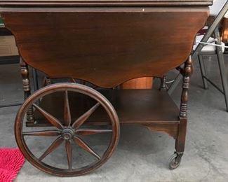 Solid Mahogany Tea Cart