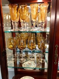 You have to love this amber glassware!