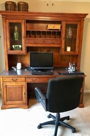 Good Looking Desk and Hutch, Chair