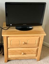 TV monitor and end table