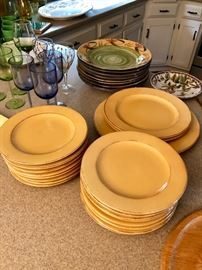 Very good looking dinnerware and stems