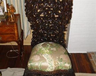 Jacobean slipper chair $300