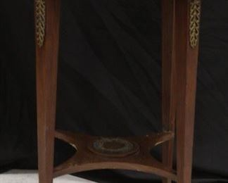 LOT #5009 - FRENCH EMPIRE MAHOGANY MARBLE TOP TABLE, 19TH C.
