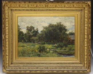 LOT #5022 - HUGH BOLTON JONES (1848-1927), OIL ON CANVAS