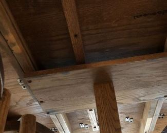 The workmanship under dining room table!
