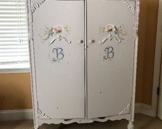 Antique wardrobe, super cute!
