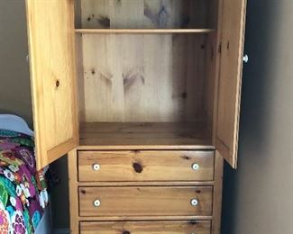 Pine wardrobe, great storage!