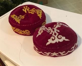 Handmade Kazakh nation Kalpak hats worn by nomads