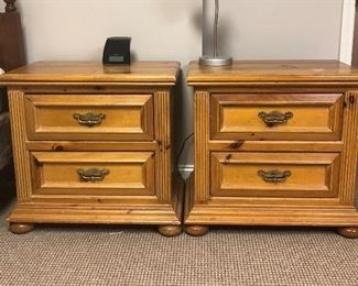 Pine matching bedside tables.