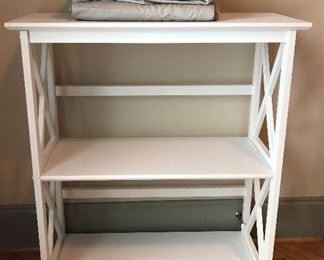 Cute white storage shelf!