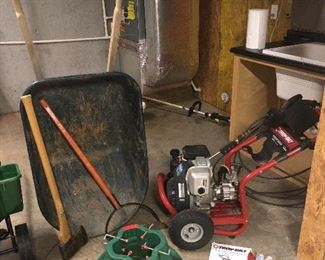 Ace  Wheel barrel, Troy built pressure washer powered by Honda 2600 psi GC160. 5.0   Model 020241