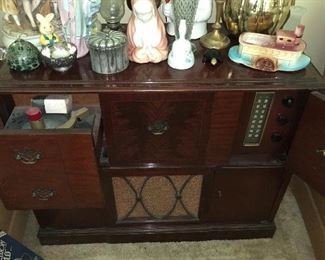 Stereo with RCA recorder player and radio