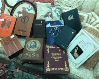 Nice collection of different Bibles...