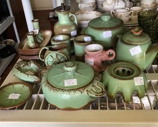 Vintage Frankoma pottery pieces 'Prairie Green'.. Beautiful!