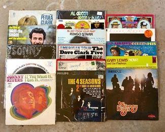 vintage albums, 78's, 33's, 45's