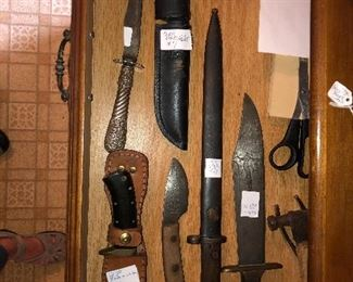 Few of the knives we have found.