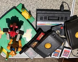 Vintage Power Rangers 1994 'Mighty Morphin' , Atari with controls, games... 'Trak-ball'