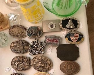 Nice selection of belt buckles...