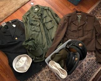 Just some of the military attire: coats, jackets, hats...