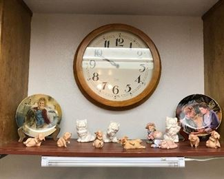 Clock-Figurines-Pig and Cat