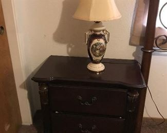 Victorian Lamp w/ Bedside Table
