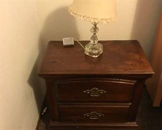 Bedside Table w/ Lamp