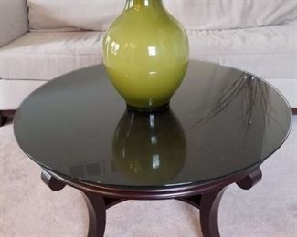 Cocktail table with glass top $168