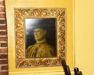Antique framed print,  Medici portrait