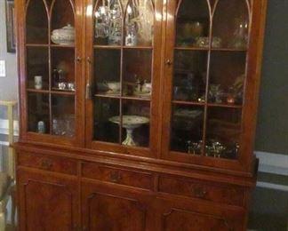 Italian made china cabinet walnut stunning