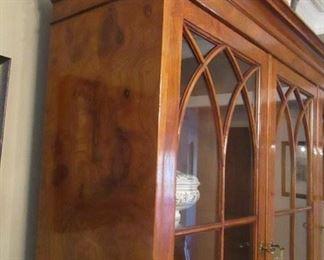 "Italian made china cupboard stunning 16"" deep, 57"" wide, 75"" high"