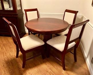 Dining Room with Leaf & 4 Chairs