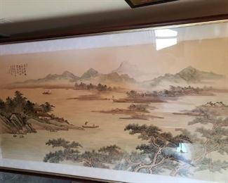 4' x 6' watercolor on silk