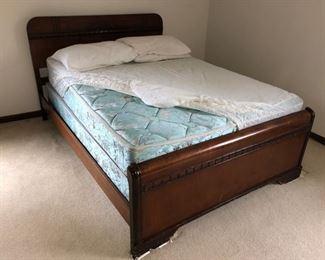 Matching full bed frame and mattress set
