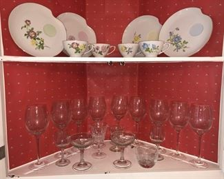 Dishes and glasses
