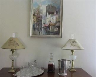 1969 painting of Paris, signed