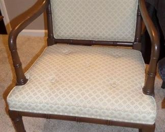 solid wood upholstered chair