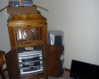 Stereo & Victrola Cabinet