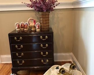 Small silver chest, a pair of wall sconces, and more.