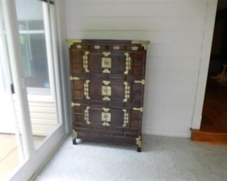 vintage  oriental  chest-  North  Korea (?)